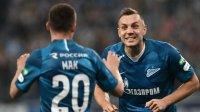 «Зенит» разгромил «Рубин» вматче чемпионата России пофутболу