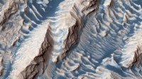 Живописный кратер наМарсе попал нафото