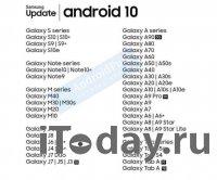 Названы смартфоны Samsung, которые получат Android 10