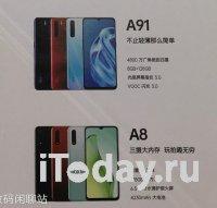 Утечка раскрывает основные характеристики смартфонов OPPO A91 и OPPO A8