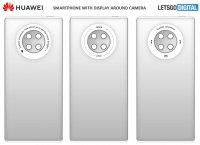 Huawei патентует конструкцию модуля камер с круговым сенсорным дисплеем