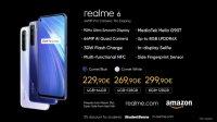 realme 6, 6i и C3 начнут продаваться в Европе в апреле