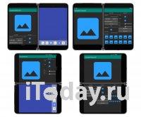 Microsoft показала разные режимы работы приложений на двух экранах Surface Duo
