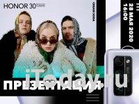 Презентация линейки смартфонов Honor 30 для России состоится 28 мая