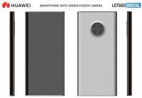 Huawei патентует дизайн смартфона с подэкранной селфи-камерой