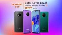 В продажу готовится выйти смартфон Oukitel C19 — бюджетник за 60 долларов