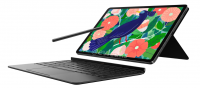 Изображение Galaxy Tab S7 демонстрирует S Pen и клавиатуру
