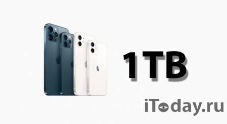 iPhone 13 сможет снимать 8K-видео и получит 1 ТБ внутренней памяти