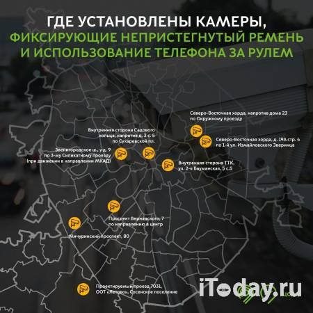 Власти Москвы сообщили о местах расположения камер, фиксирующих разговоры по телефону за рулём