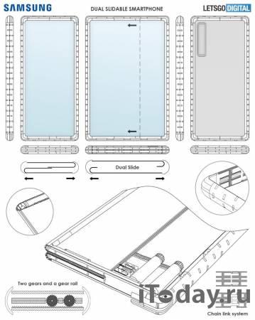 Samsung запатентовала оригинальную конструкцию раздвижного смартфона