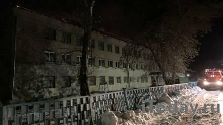 В Саратовской области потушили крупный пожар в здании школы - 09.02.2021