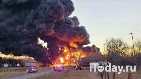 После столкновения цистерны с поездом в Техасе произошел взрыв - Радио Sputnik, 23.02.2021