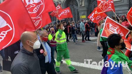 В Испании 100 тысяч человек вышли на митинги профсоюзов - 01.05.2021