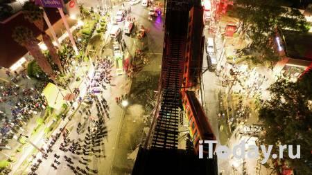 Власти: внутри обрушившегося поезда в Мехико еще остаются тела погибших