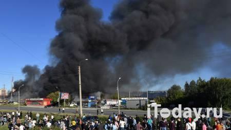 Площадь пожара на АЗС в Новосибирске возросла до 800 квадратных метров - 14.06.2021