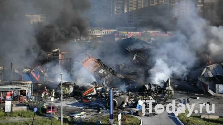 При пожаре на АЗС в Новосибирске взрывной волной выбило более ста окон - 15.06.2021