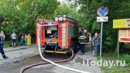 В Красногорске загорелся автосервис - 24.06.2021