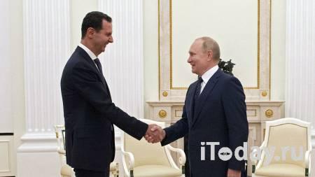 В Кремле рассказали о мерах предосторожности на встрече Путина и Асада - 15.09.2021