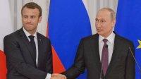 Названы темы общения Путина с Макроном